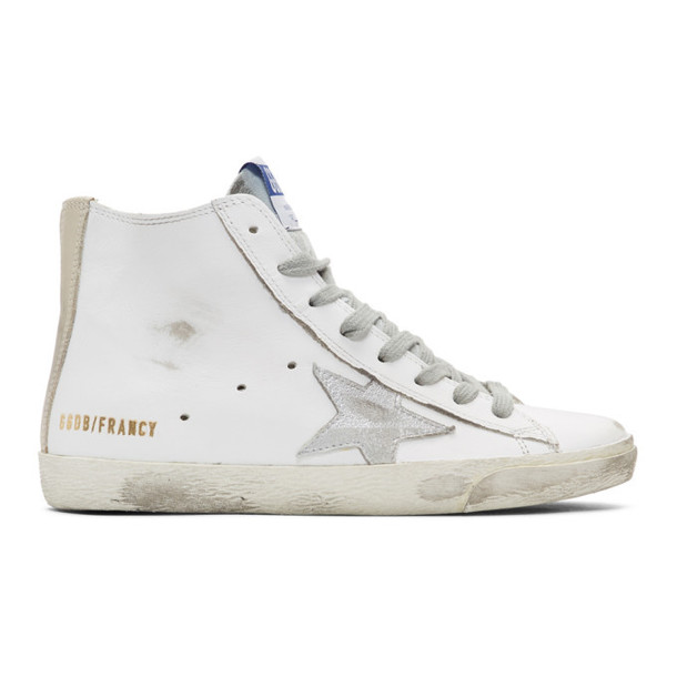 Golden Goose White & Silver Francy Sneakers
