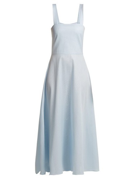 Gioia Bini - Lucinda Cotton Dress - Womens - Light Blue