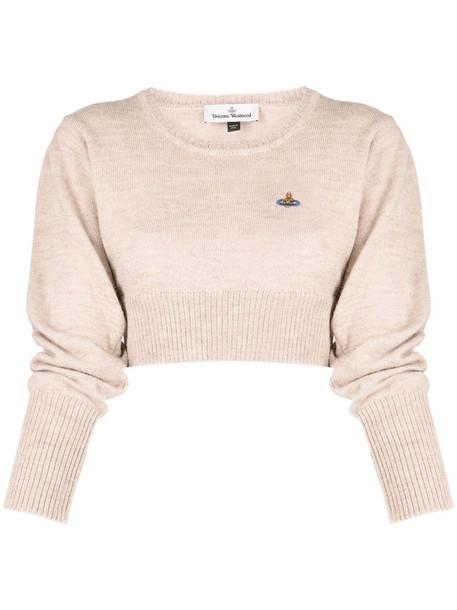 Vivienne Westwood Helene cropped round-neck jumper - Neutrals