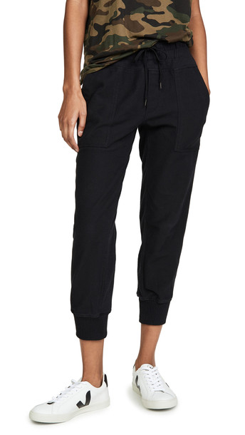 James Perse Mixed Media Pants in black