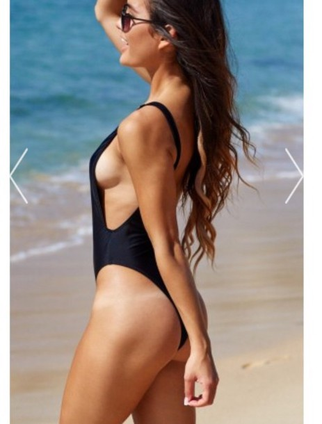 swimwear black swimwear cute one piece swimsuit