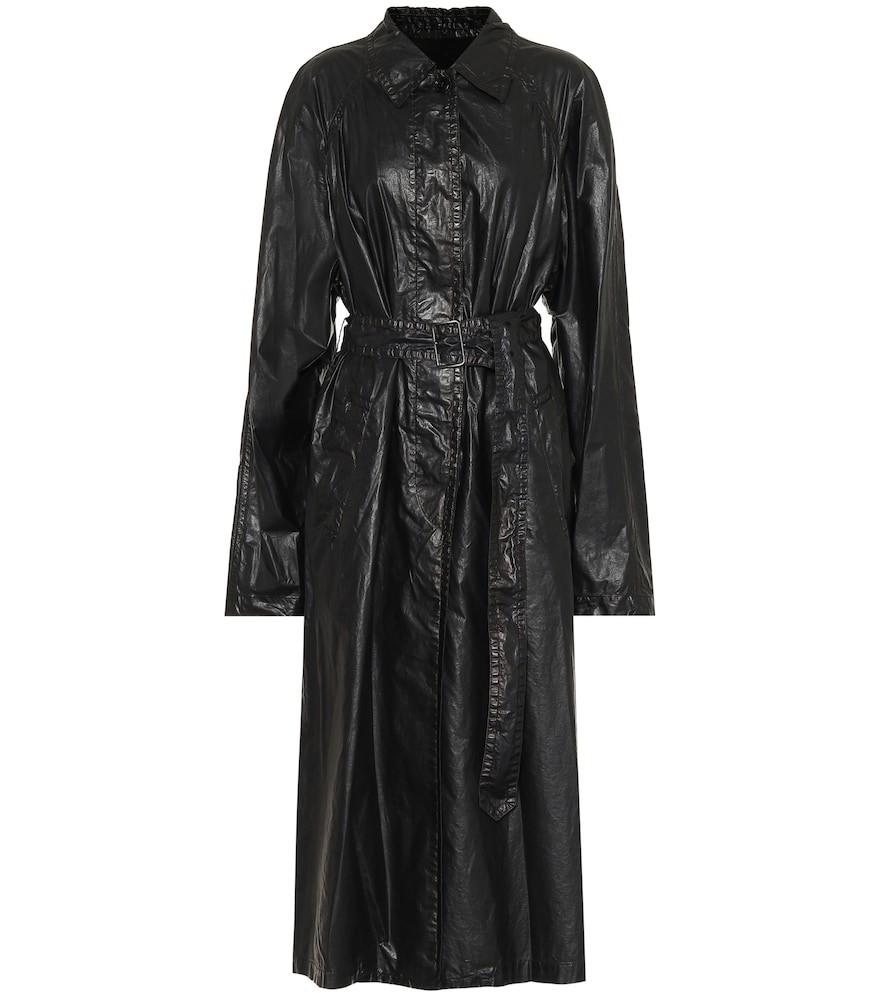 Dries Van Noten Belted cotton-blend coat in black