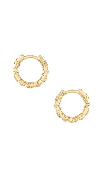 Kendra Scott Maggie Huggie Earrings in Metallic Gold