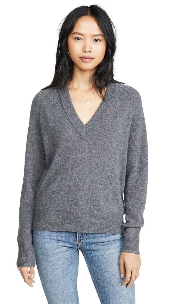 Equipment Madalene V Neck Sweater in grey