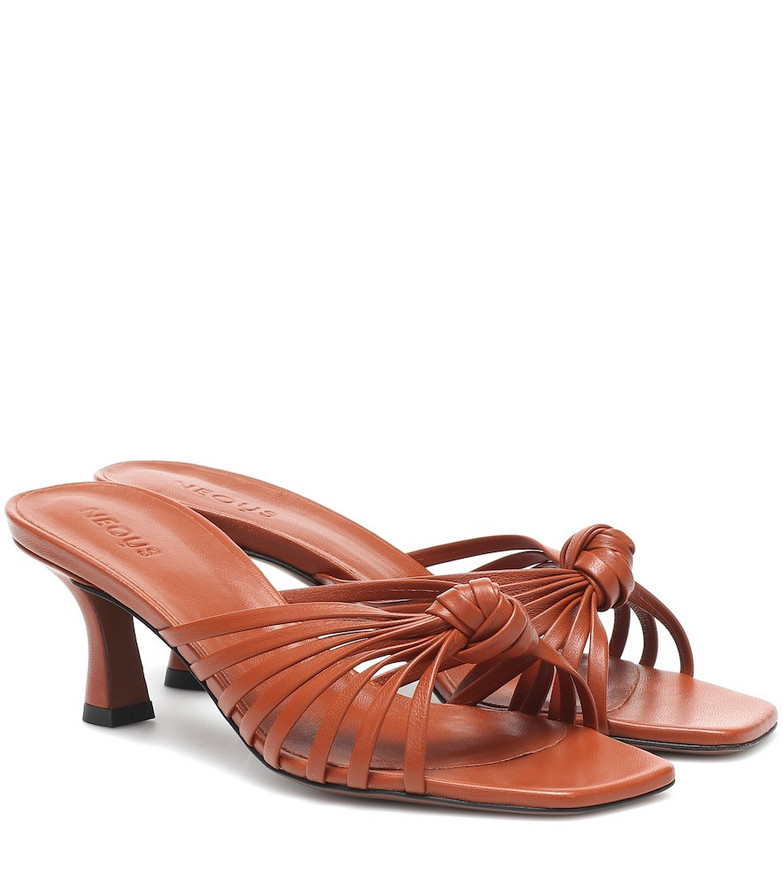 Neous Lottis leather sandals in brown