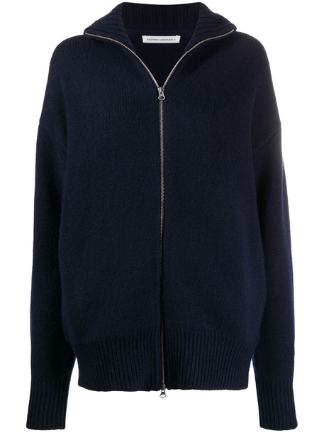 Extreme Cashmere zipped-up cardigan in blue