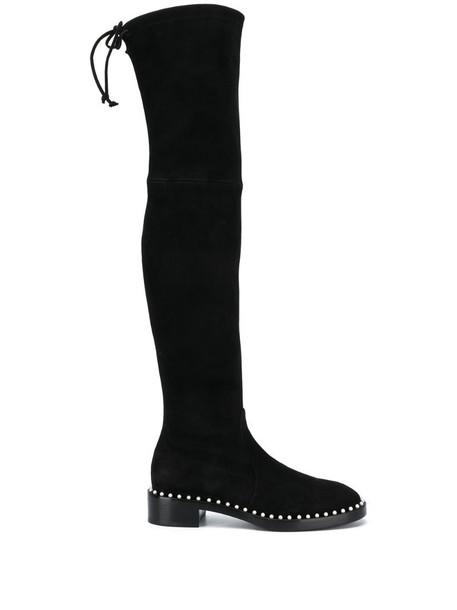 Stuart Weitzman Lowland Pearl thigh-high boots in black