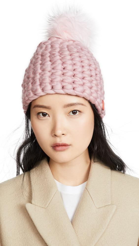 Mischa Lampert Deep Beanie Hat in rose