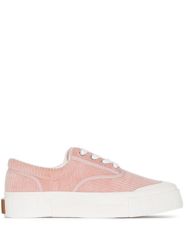 Good News Opal corduroy low-top sneakers in pink