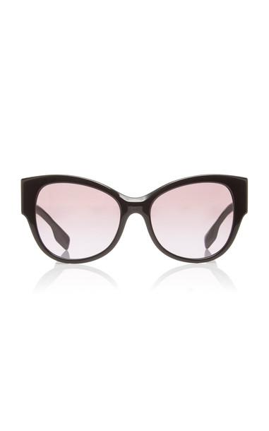 Burberry Oversized Acetate Round-Frame Sunglasses