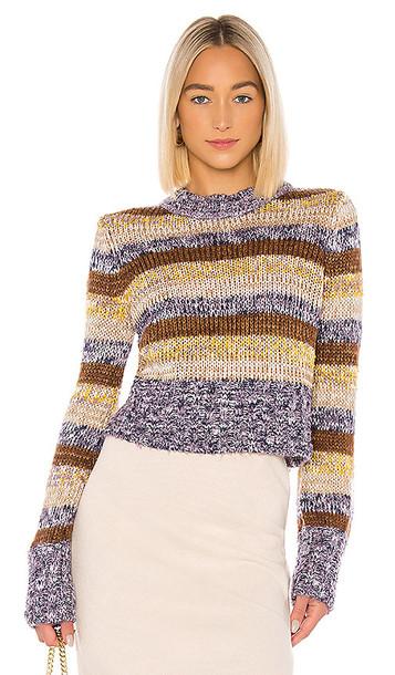 Tularosa Sandie Sweater in Brown,Yellow,Purple