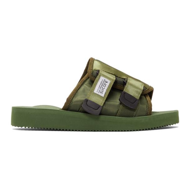 Suicoke Green KAW-CAB Sandals