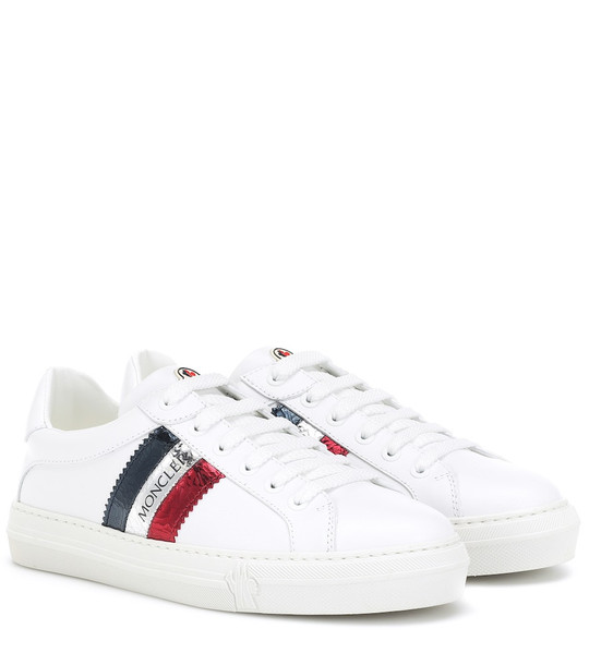 Moncler Ariel leather sneakers in white