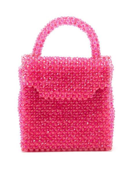Shrimps - Archie Beaded Handbag - Womens - Pink