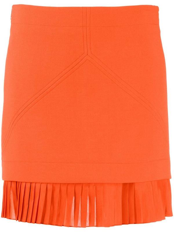 Courrèges exposed-seam high-neck top in orange