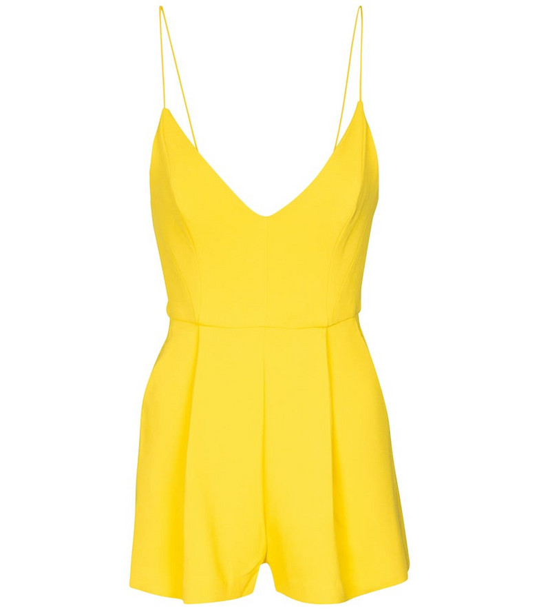 Alex Perry Exclusive to Mytheresa – Kane crêpe playsuit in yellow