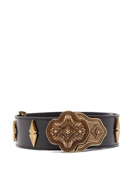 Etro - Studded Leather Belt - Womens - Black
