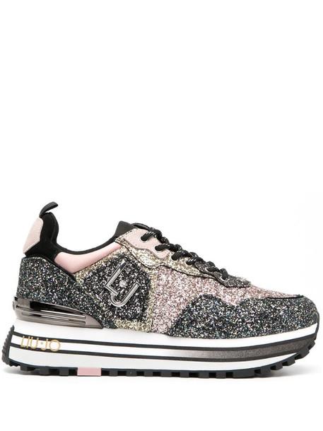 LIU JO glitter flatform trainers in pink