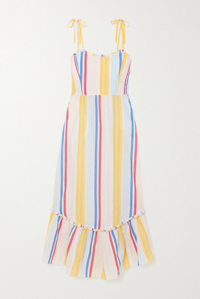 LemLem - Net Sustain Jima Smocked Striped Woven Dress - Yellow