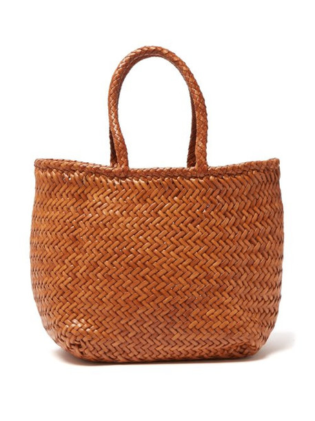 Dragon Diffusion - Grace Woven Leather Basket Bag - Womens - Tan