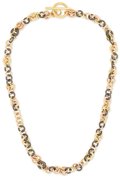 Spinelli Kilcollin - Crux 18-karat Yellow And Rose Gold And Rhodium-plated Sterling Silver Necklace