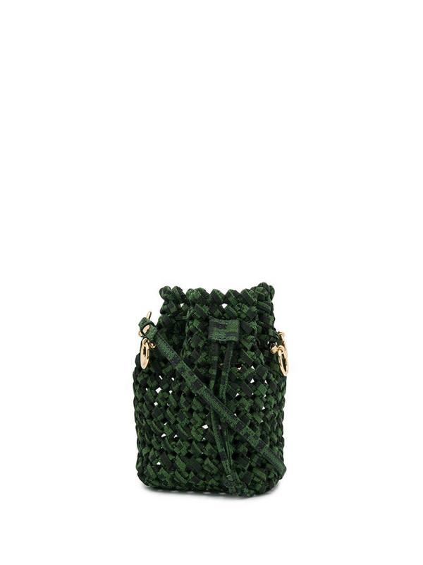 Fendi mini Mon Tresor woven bag in green