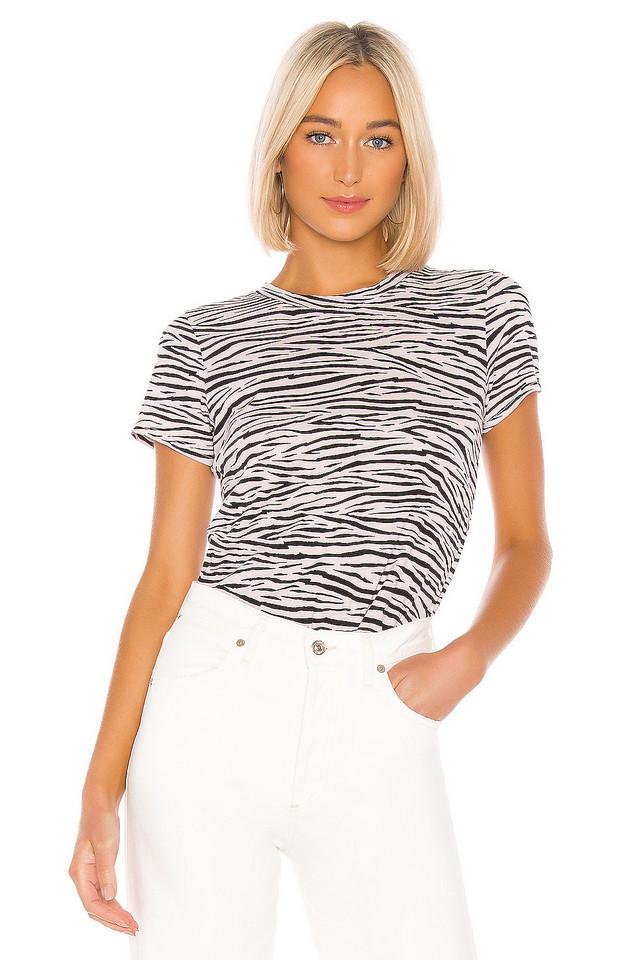 Enza Costa The Perfect Zebra Tee in blush