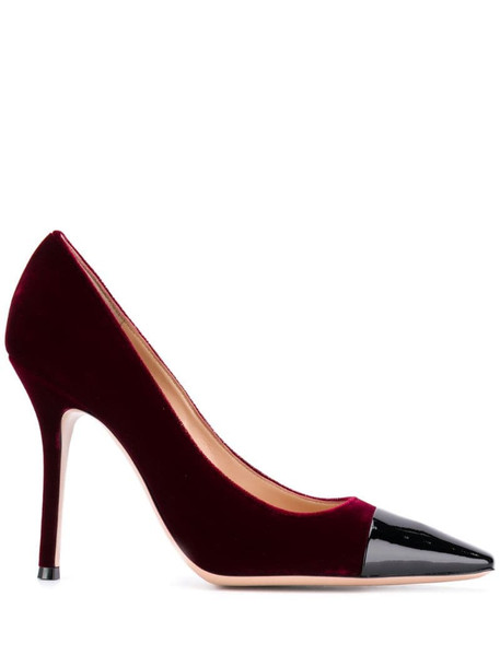 Gianvito Rossi Lucy contrasting toe pumps in red