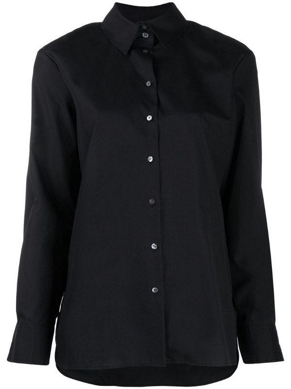 Karl Lagerfeld classic button-up shirt in black