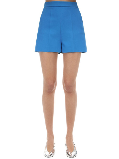 MSGM Tailored Double Crepe Shorts in blue