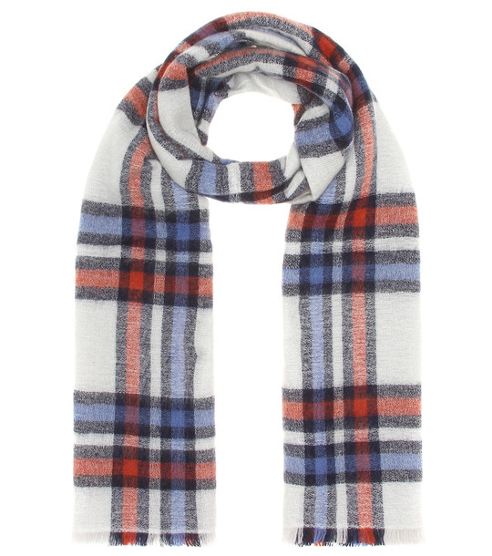 Isabel Marant Suzanne wool and cashmere scarf in white
