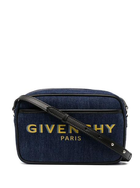 Givenchy logo-print crossbody bag in blue
