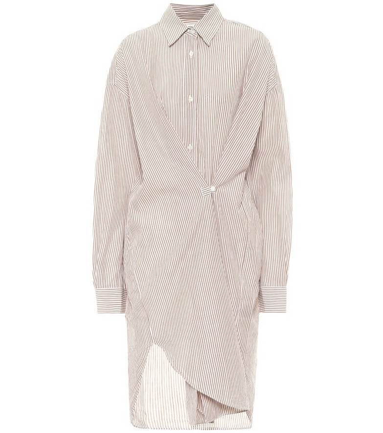 Isabel Marant, Étoile Seen pinstriped cotton shirt dress in beige