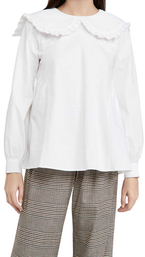 Sandy Liang Laurie Top in white
