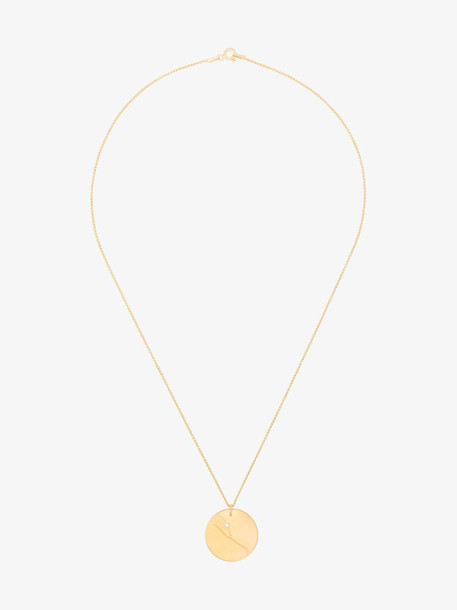 Hermina Athens gold-plated sterling silver Taurus zodiac necklace