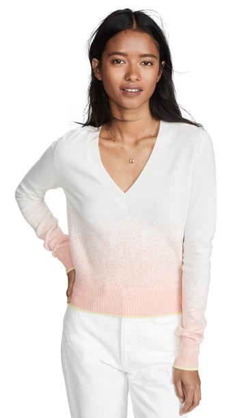 Barrie Ombre V Neck Pullover