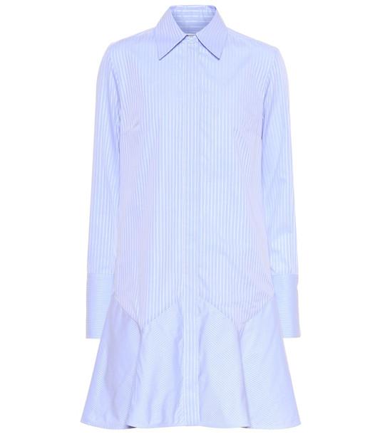 Victoria Victoria Beckham Striped cotton minidress in blue