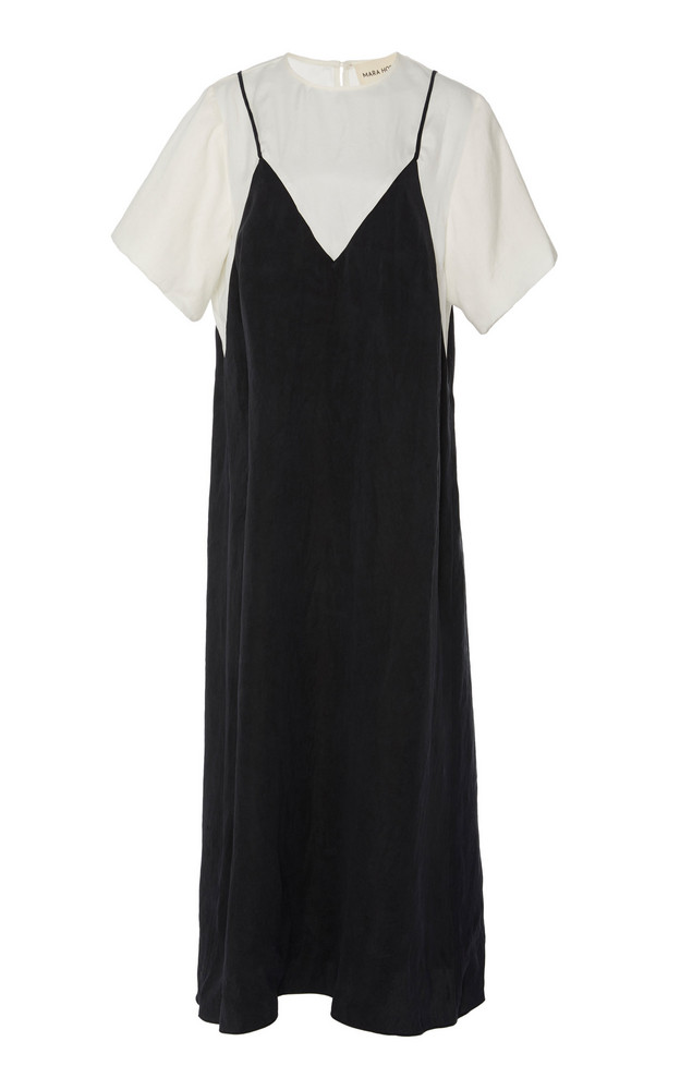 Mara Hoffman Daija T-Shirt Slip Dress in black