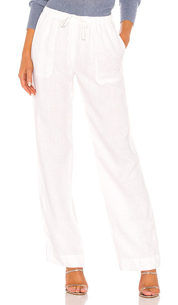 Vince Tie Front Pull On Pant in White