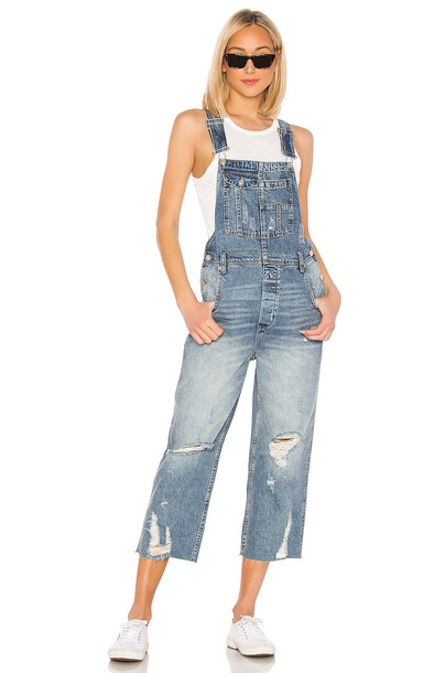 Free People Baggy BF Overall in denim / denim