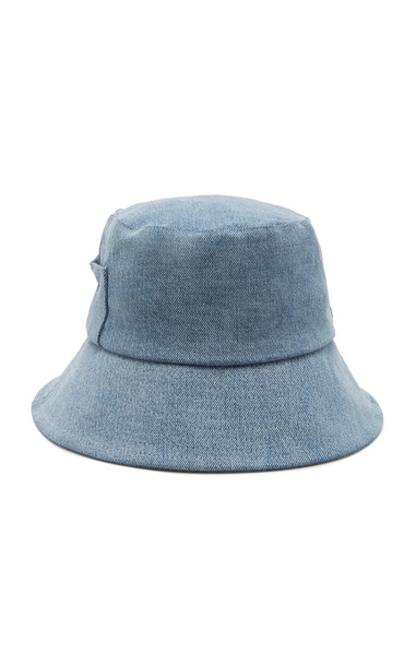 Lack of Color Denim Bucket Hat in blue