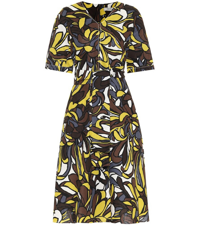 S Max Mara Joy linen and cotton midi dress