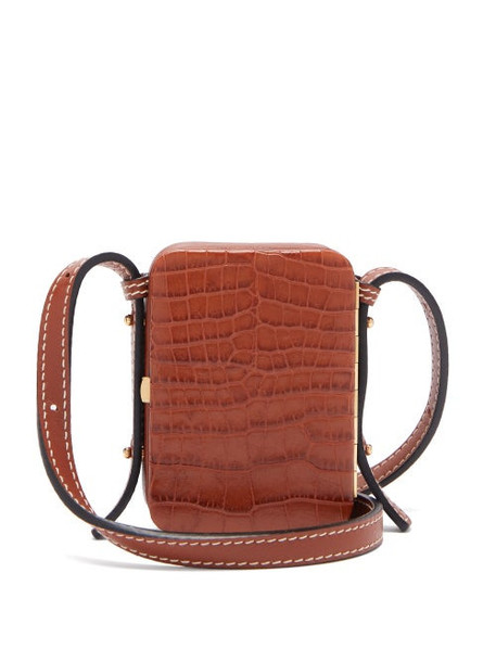Lutz Morris - Norman Mini Crocodile Effect Leather Bag - Womens - Tan