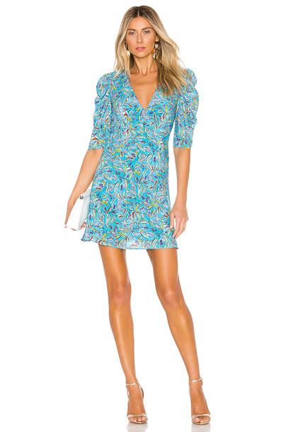 SALONI Colette Mini Dress in blue