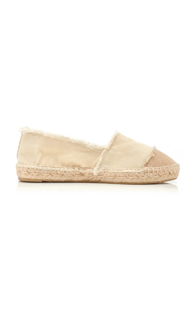 Castañer Two Tone Canvas Espadrilles in neutral