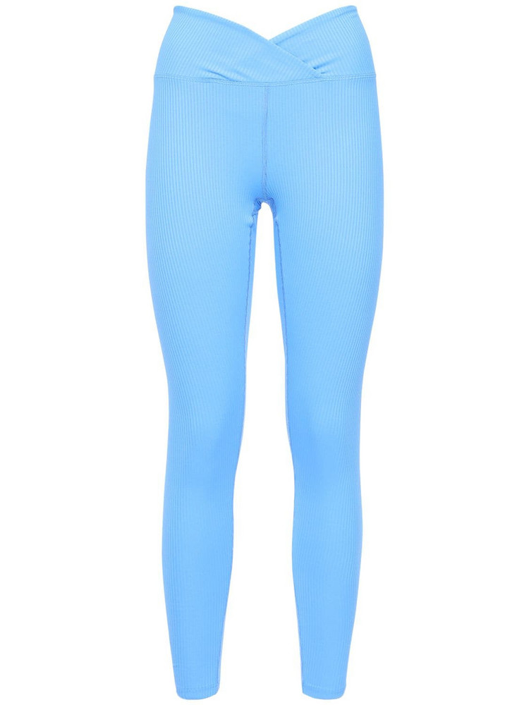 YEAR OF OURS Veronica Ribbed Leggings in blue