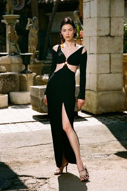 Cult Gaia Priya Dress - Black (PREORDER)                                                                                               $1,108.00