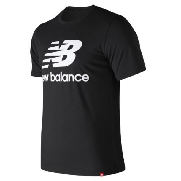 New Balance 91546 Men's Essentials Stacked Logo Tee - Black (MT91546BK)