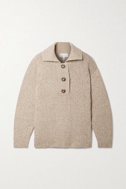 APIECE APART - Miguela Alpaca And Organic Pima Cotton-blend Sweater - Brown
