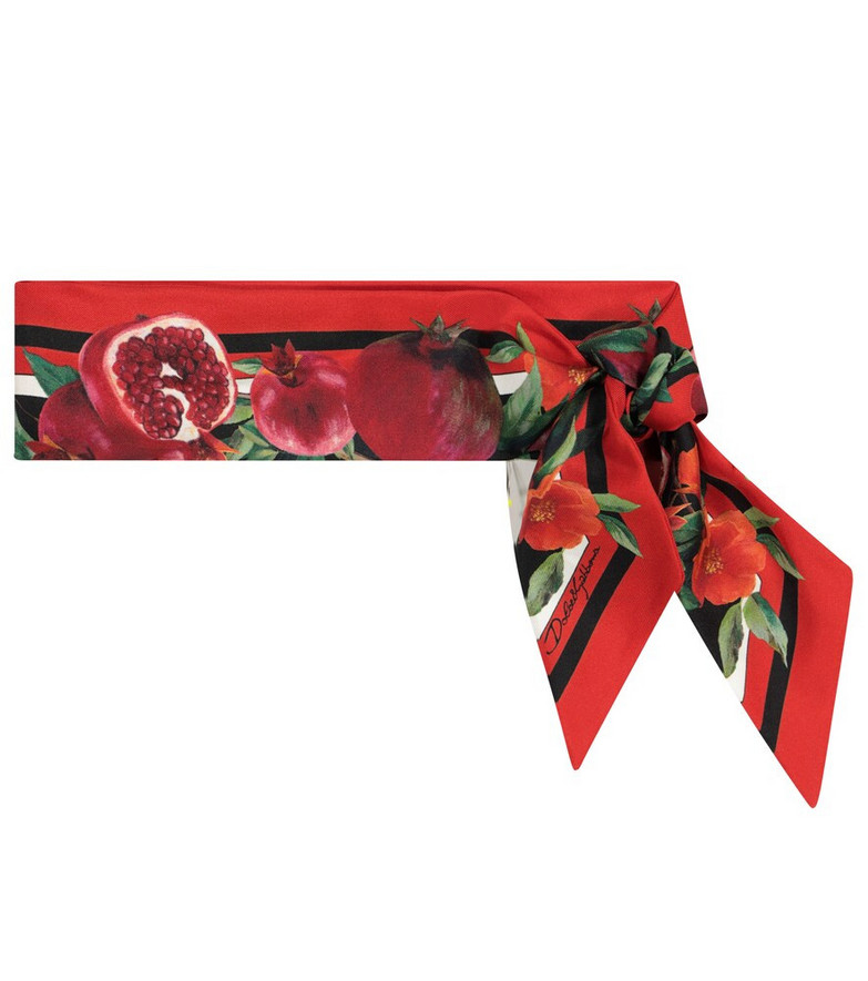 Dolce & Gabbana Exclusive to Mytheresa - Pomegranate-print silk scarf in red
